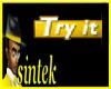 SINTEK TRY IT STICKER