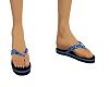 Flip flops , Camo Blue
