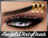 Gold eyebrow piercing L