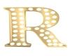 Gold Blinking Letter- R