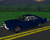 flat blue charger