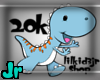 20k support dino sticker