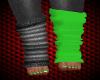 !Rae neon greenblk socks