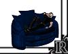 [R] single blue chair