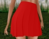 RLL Red Pleated Skirt
