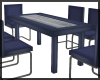 Blue Modern Dining Table