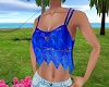 Blue summer top lace