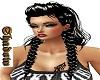 long black white braid