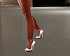 spring white satin heels
