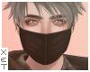 ✘ Black mask.