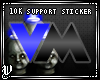 [V]10K Support Sticker