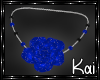 BLUE ROSES NECKLACE