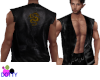 open leather vest