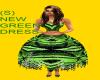 (S) NEW GREEN DRESS
