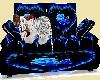 Blue Rose Tiger loveseat