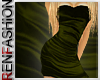 $R Lime Grn Silk Dress