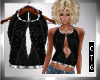 CTG  LEATHER & LACE TOP
