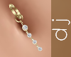 Gold Diamonds Belly Ring