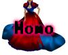 red blue dress