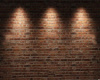 Brown Stone/Lighted Wall