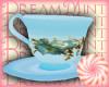 Blue Floral TeaCup Tea