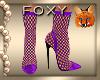Purple Fishnet Boots