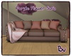 Bv Purple Flower Sofa