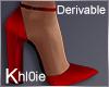 K derv red fall heels