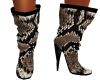 Snake Skin Doll Boots