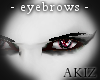 ]Akiz[ Black T. Eyebrows