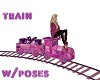 PINK TRAIN WITH POSES