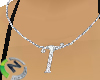 T Letter Necklace Name