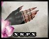 Black Gloves Red Nails