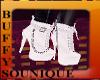 BSU White Boots w Chains