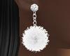 White Pom Earrings