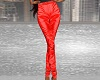 Red Satin Pants