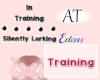 AT Training B+W Sign