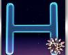 ! 3D Neon Blue Letter H