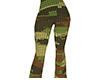 Camo Knit Flared Pants F