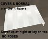 no pose bed sheet triger