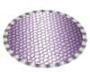 Purple/Silver Oval Rug