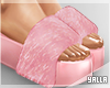 Fur High Slides PINK