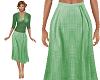 TF* Green Modest Skirt