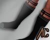 (A) Garter Socks Black