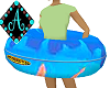 Ama{Pool Floatie blue
