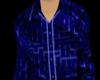 [W]Blue Maze Button Down