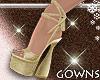 Vera's heels golden