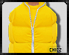 Cz!! Yellow Bubble Coat