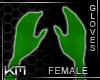 +KM+ Gloves Green
