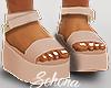ṩPlatform Sandals Nude
